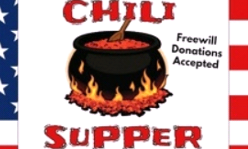 Chili Supper - Sat Nov 9th at 5:00 p.m.